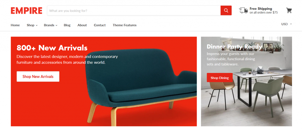 Empire - Furniture Shopify Theme