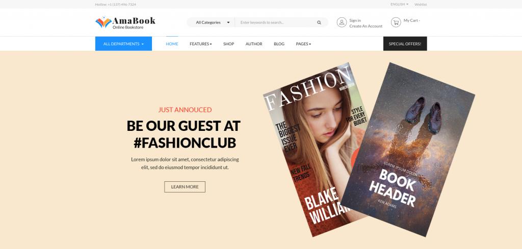 AmaBook - Books & Entertainment Magento 2 Theme
