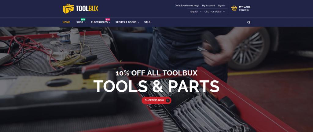 ToolBux - Hardware & Sanitary Magento 2 Theme