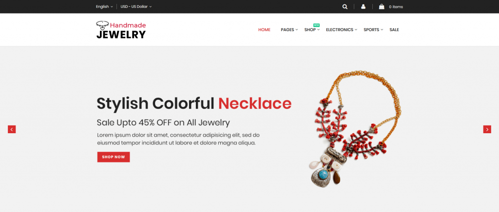 Handmade Jewelry - Jewelry Magento 2 Theme