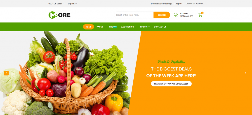More - Grocery Store Magento 2 Theme
