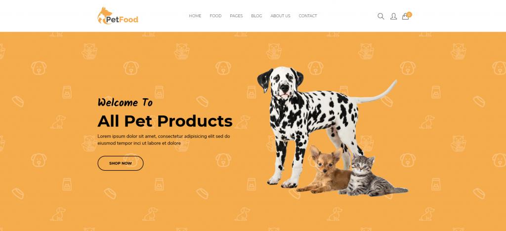 PetFood - Pet Care, Pet Sitter Shopify Theme