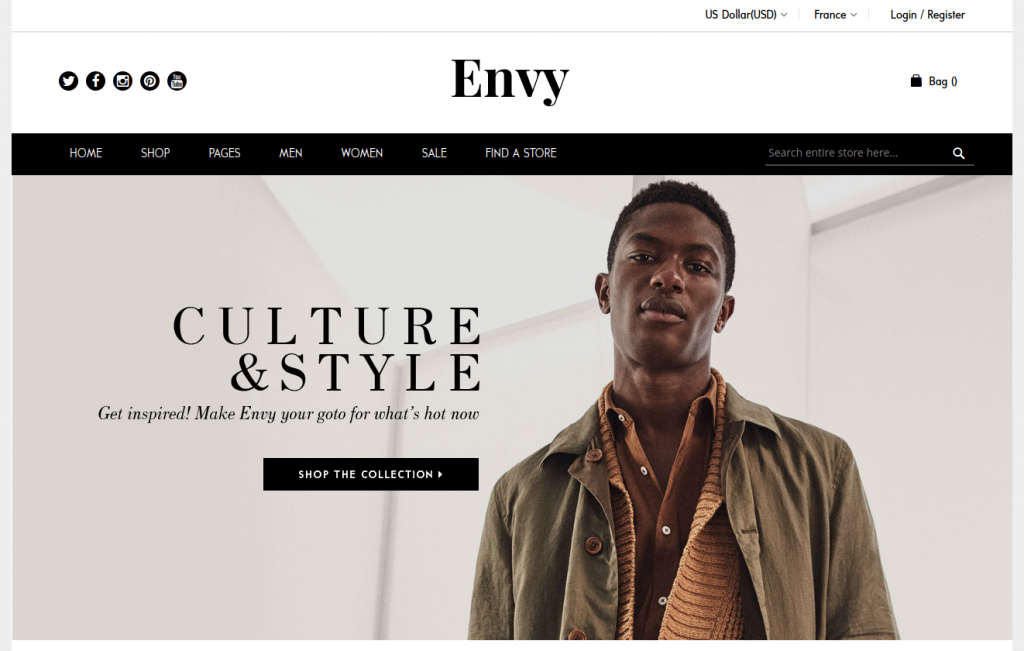 Envy - Beautiful Fashion & Accessories Magento 2 Theme