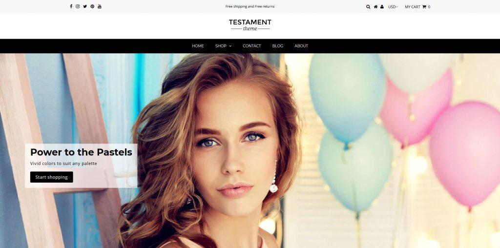Testament Premium Shopify Theme