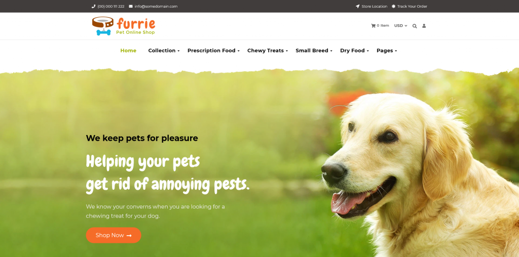 Furrie - Shopify Pet Store, Dog Care