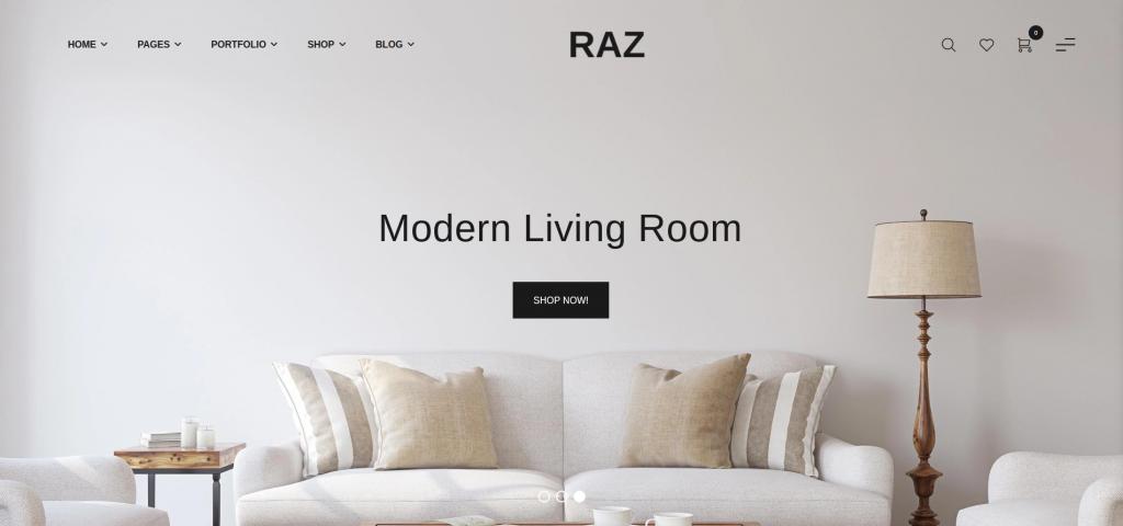 Raz – Furniture Shopify Theme