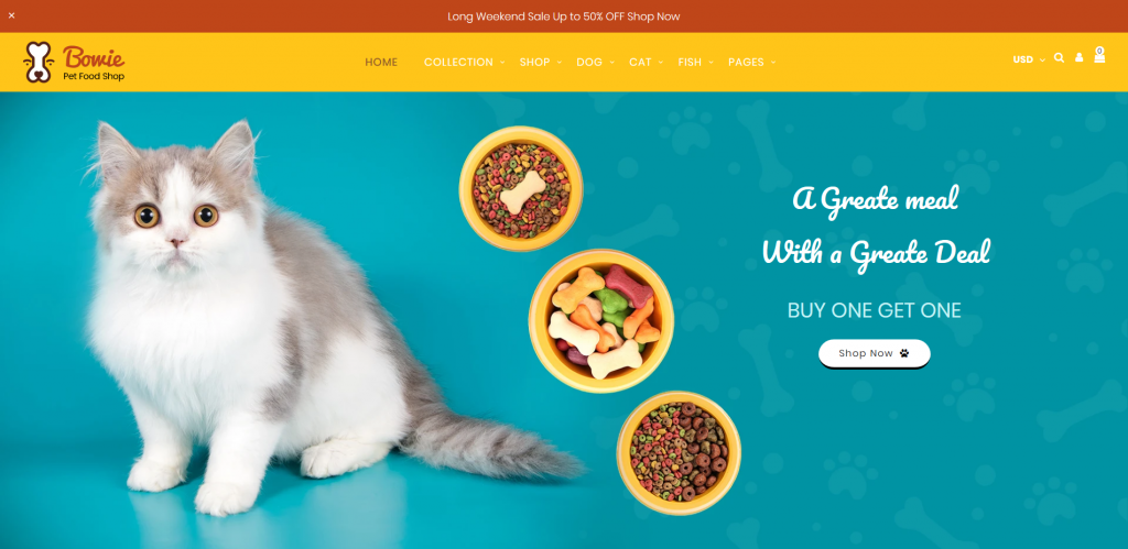 Bowie - Pets, Birds and Dogs Shopify Theme