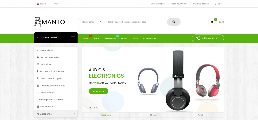 Amanto - Multi-Purpose Shopify Theme for Electronics Store