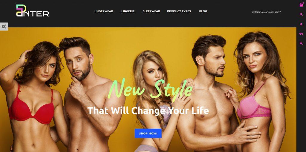 Panter - Underwear eCommerce Store Design Magento Theme