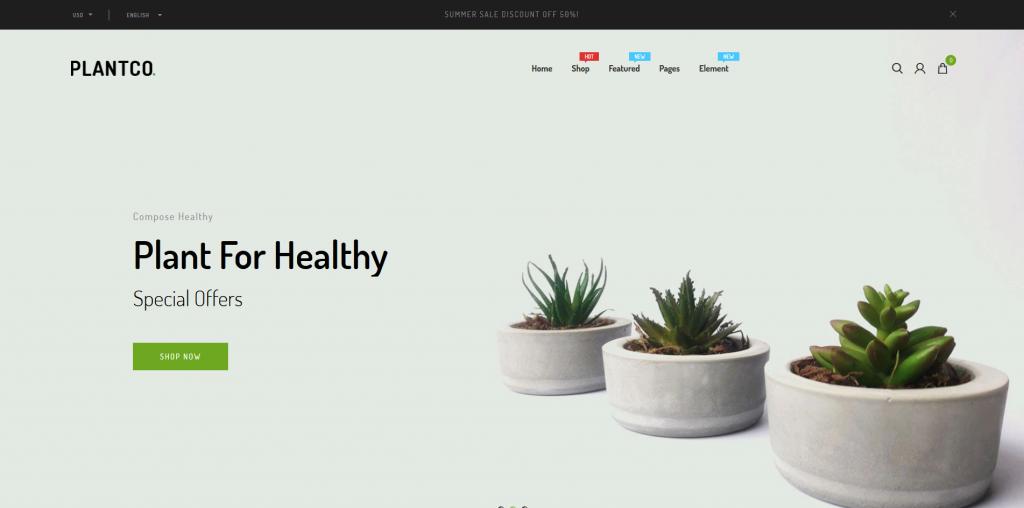Plantco - Gardening & Houseplants Shopify Theme