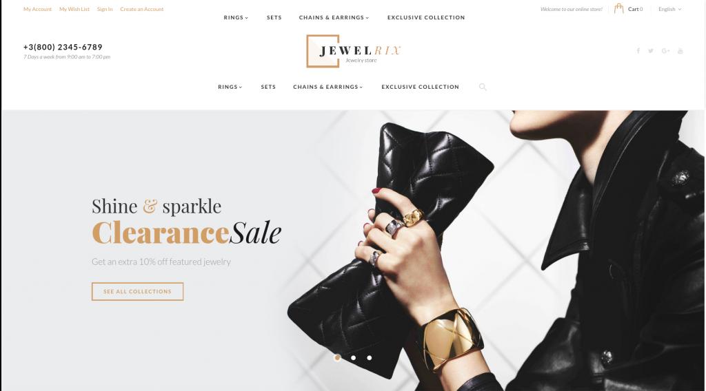 Jewelrix - Jewelry Store Magento 2 Theme