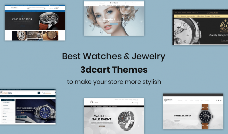 Watches & Jewelry 3dcart Themes