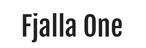 Fjalla One Google Font