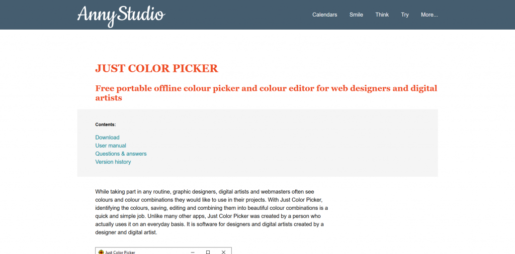 Just Color Picker - Color Picker Tool