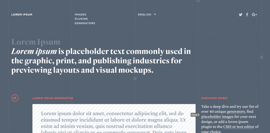 Loremipsum Placeholder Images Website