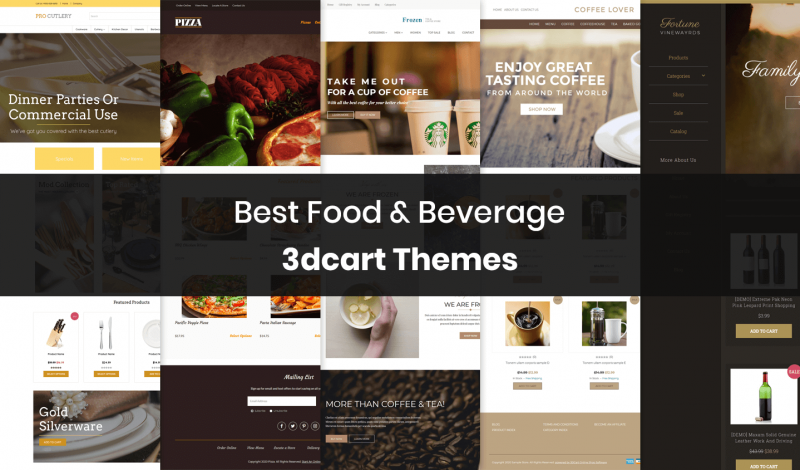 Food & Beverage 3dcart Themes