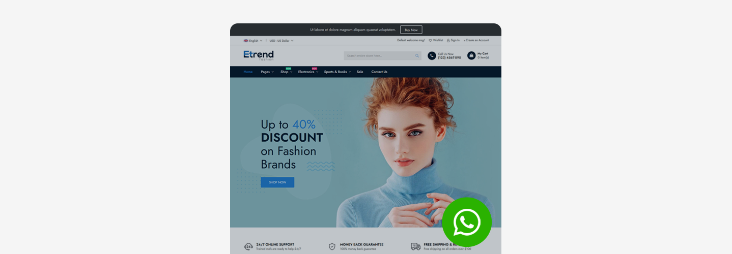 Etrend - Best Converting Magento 2 Theme