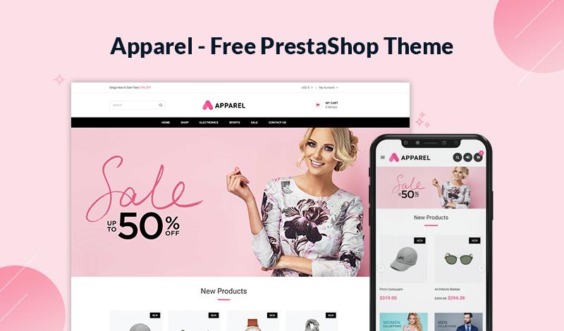 Apparel - Fashion Free PrestaShop 1.7.7 Theme
