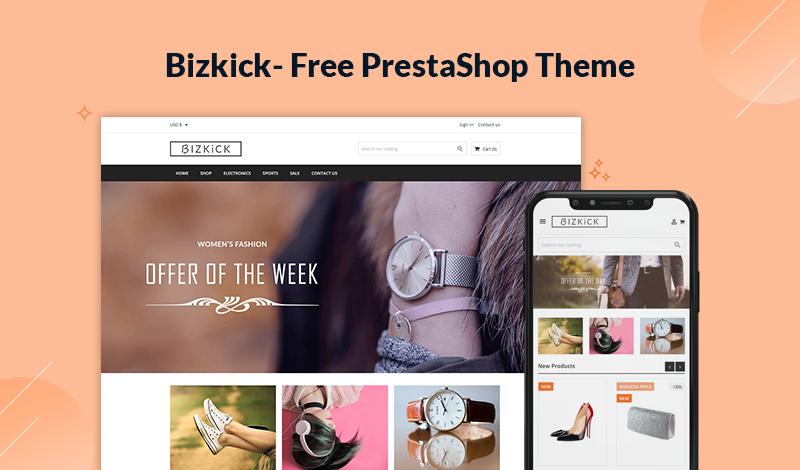 Bizkick - Free PrestaShop 1.7.7 Theme