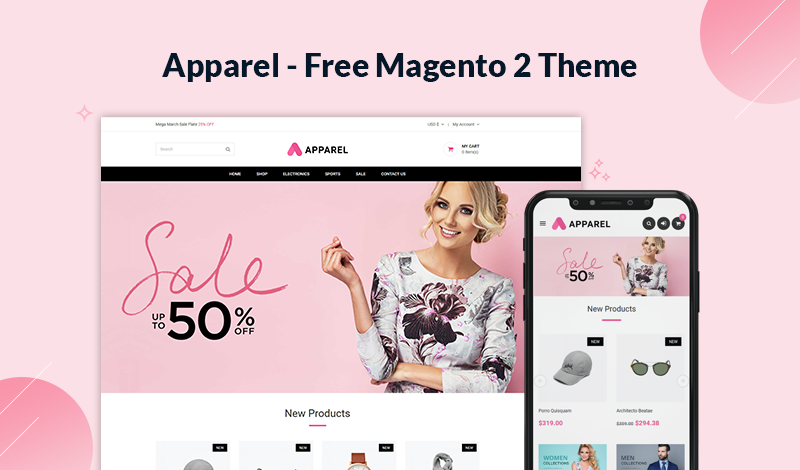Apparel – Free Multipurpose Responsive Magento 2 Theme
