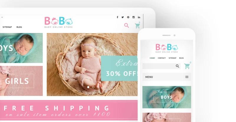 BoBo - Baby Online Store PrestaShop Theme