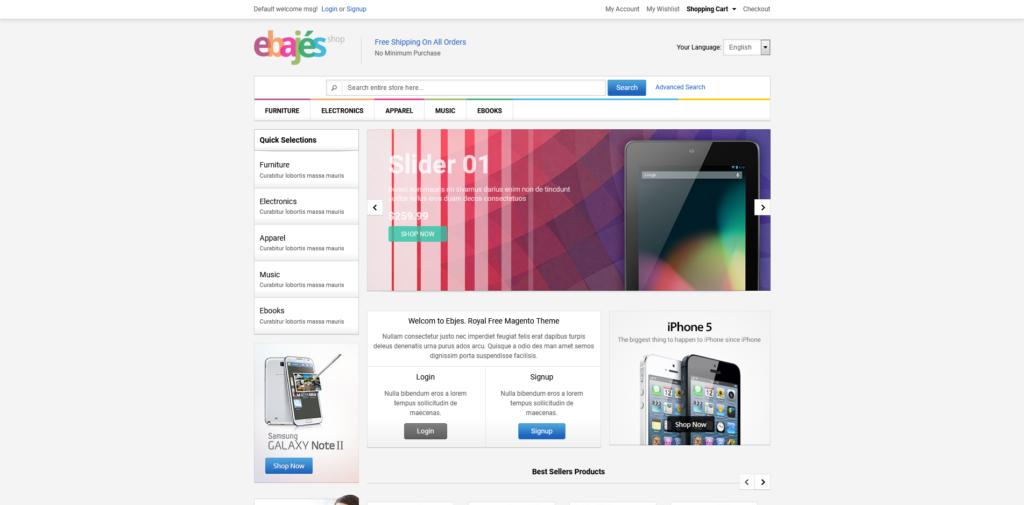 Ebajes – Free Responsive Electronics Magento Theme