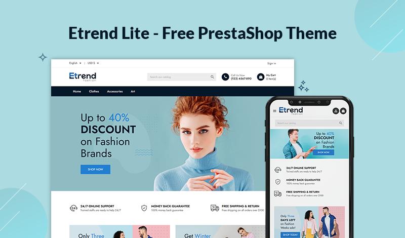 Etrend Lite - Free PrestaShop Theme