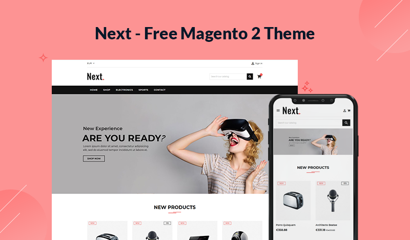 Next - A New Free Responsive Magento 2 Theme