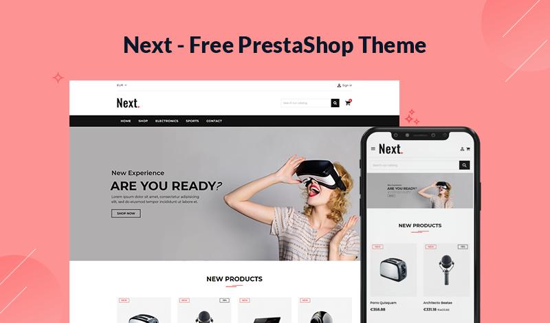 Next - Electronics Store Free PrestaShop Themes