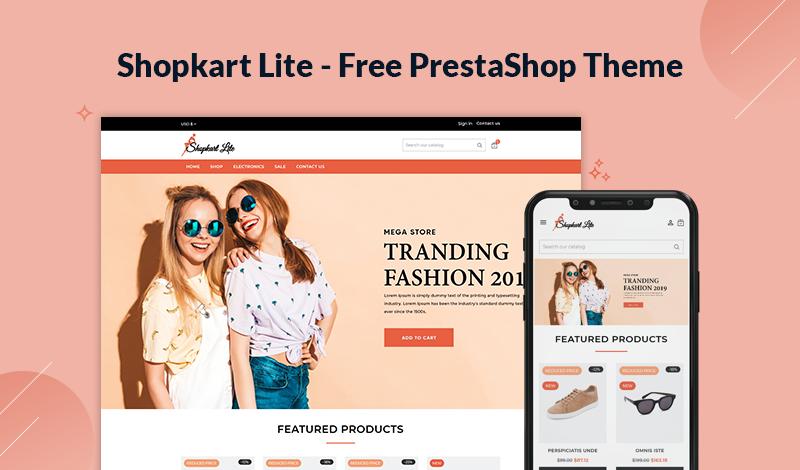 Shopkart Lite - Free PrestaShop Themes