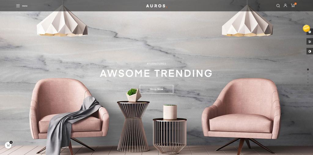 Auros - Furniture Home Decor Prestashop Template