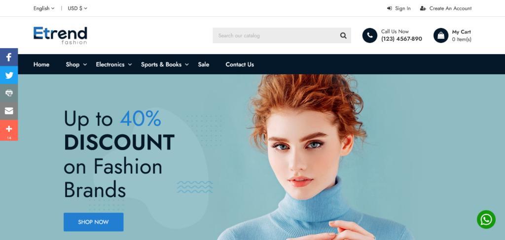 Etrend – Premium Multipurpose PrestaShop Theme