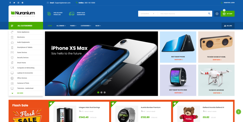 Nuranium | Multi-Purpose Marketplace Prestashop 1.7 Theme