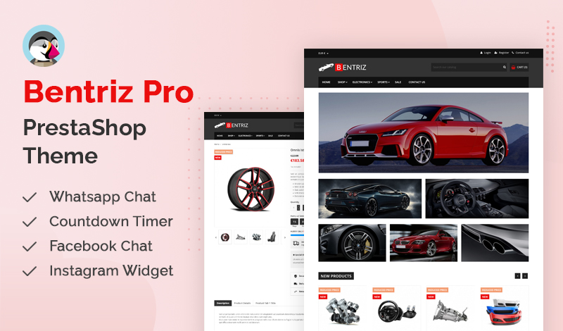 Best Bentriz Pro PrestaShop Themes For Your Online Store