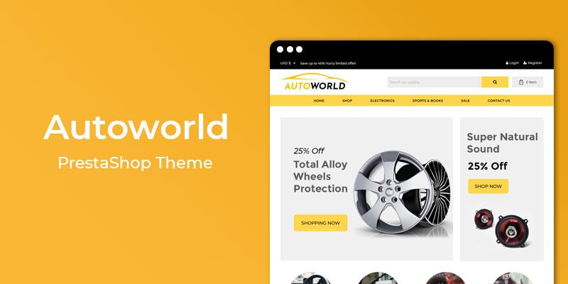 AutoWorld- Premium Auto Store Responsive Prestashop Theme
