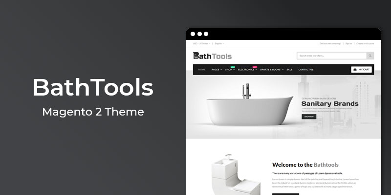 BathTools - Responsive  Magento® 2 Theme