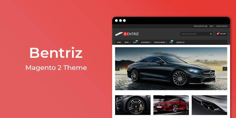Bentriz - Free Auto Parts Responsive Magento 2 Theme
