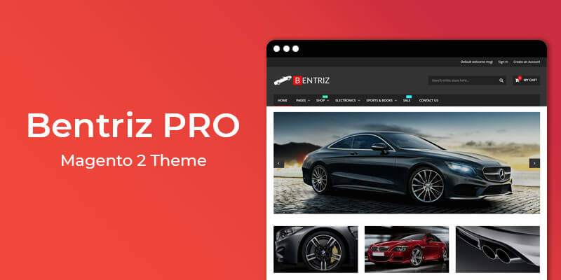 Bentriz PRO - Premium Auto Parts Magento 2 Theme