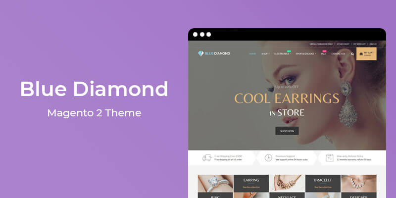 Blue Diamond - MultiPurpose Responsive Magento® 2 Theme