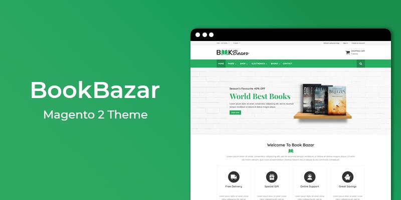 BookBazar - Online Book Store Magento 2 Theme