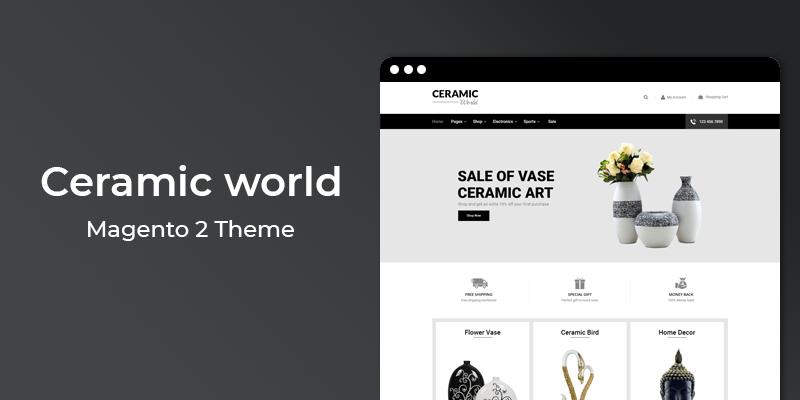 Ceramic World – Multipurpose Responsive Magento 2 Theme