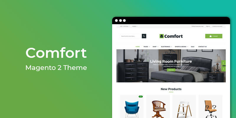 Comfort - Furniture Store Responsive Magento 2 Theme