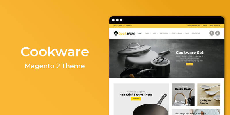 Cookware  - Responsive Multipurpose Magento 2 Theme