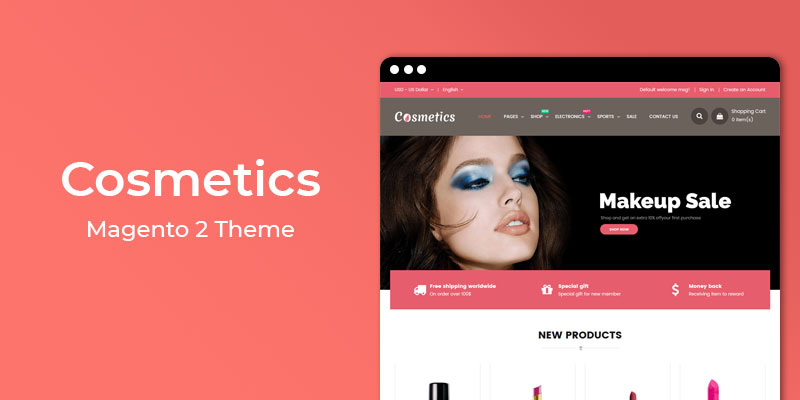 Cosmetics - Fashion Responsive Magento® 2 Theme