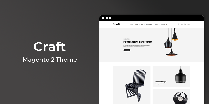 Craft - Furniture Store Responsive Magento 2 Theme