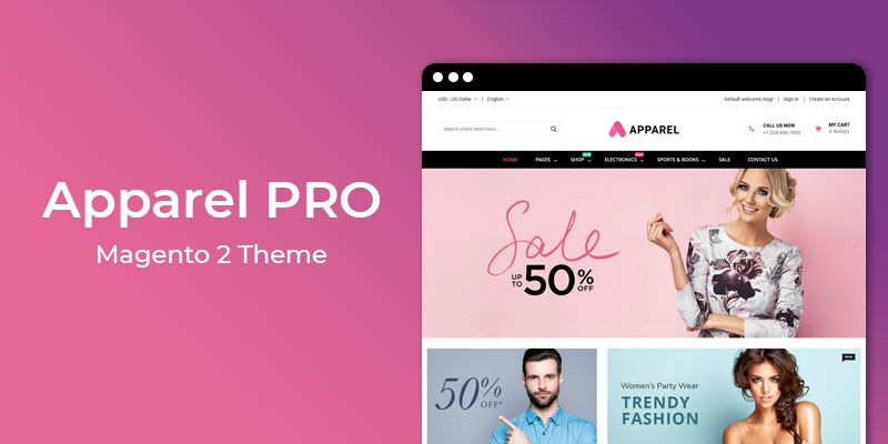 Apparel PRO � Multipurpose Responsive Magento 2 Theme