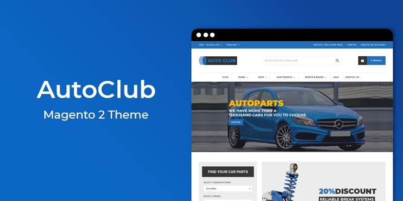 AutoClub - Auto Parts Responsive  Magento 2 Theme