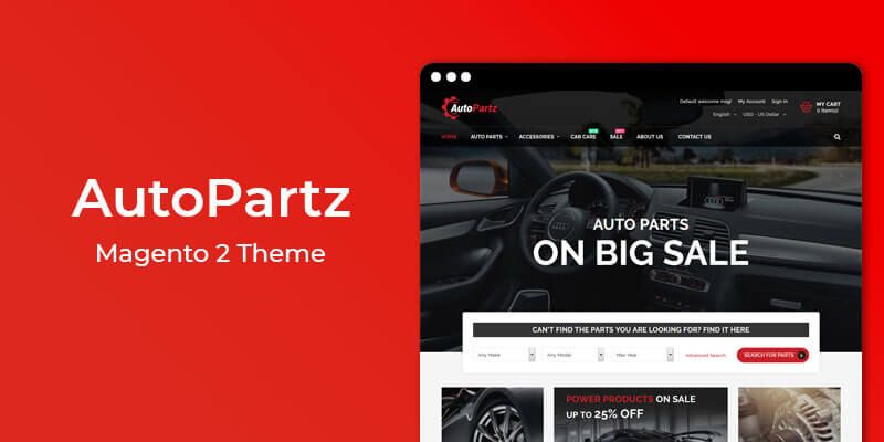 AutoPartz - Premium Responsive Auto Parts Magento 2 Theme