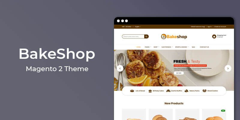Bakeshop - Cake & Bakery Store Magento 2 Theme