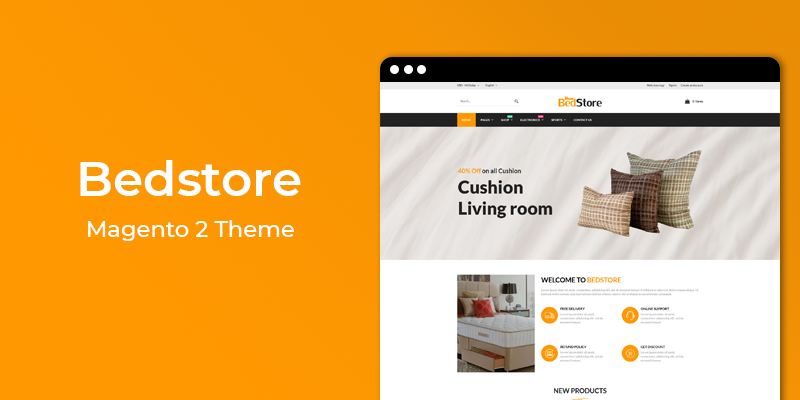 Bed Store - Furniture Magento 2 Theme